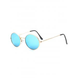 Oval Metal Frame Anti UV Sunglasses