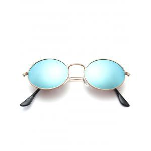 Oval Metal Frame Anti UV Sunglasses -