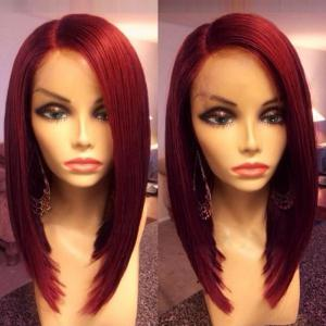 Medium Side Parting Silky Straight Bob Synthetic Wig