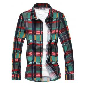 Colorful Plaids Button Up Shirt