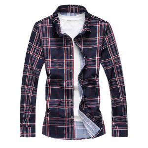 Checks Pattern Long Sleeves Shirt