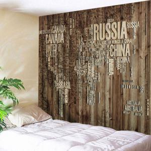 Vintage Wall Hanging Plank Map Throw Tapestry