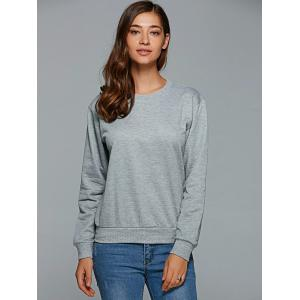 Active Round Neck Letter Print Sweatshirt - GRAY M