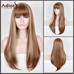 Adiors Long Full Bang Straight Highlight Synthetic Wig