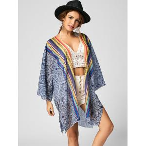 Chiffon Tribal Print Beach Cover Up - COLORMIX L