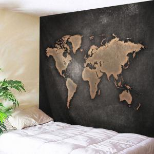 Seven Continents Map Wall Decor Tapestry