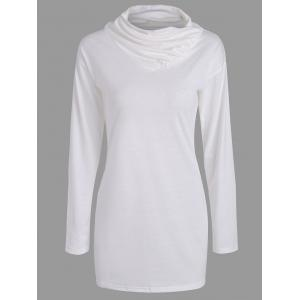 Buttons Long Sleeve Heaps Collar T-shirt