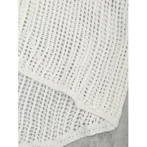 Lace-up Crochet Tank Top - WHITE ONE SIZE
