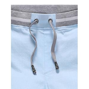 Stripe Panel Drawstring Bermuda Shorts - LIGHT BLUE 2XL