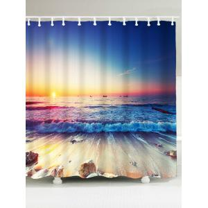 Beach Sunlight Waterproof Bathroom Shower Curtain