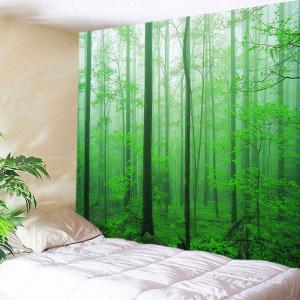 Forest Tree Decorative Wall Hanging Tapestry - Green - W79 Inch * L59 Inch