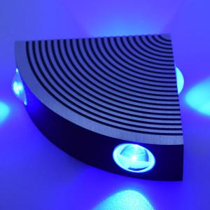 Aluminum LED Sector Wall Lamp for Bedroom - BLUE