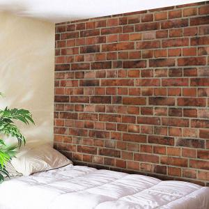 Microfiber Wall Hanging Brick Wall Tapestry - Brick-red - W79 Inch * L59 Inch