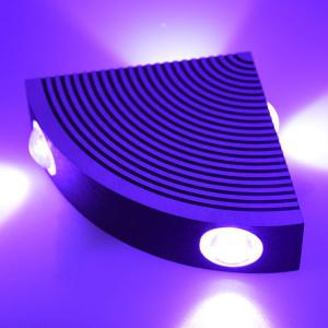 Aluminum LED Sector Wall Lamp for Bedroom - Purple - W59 Inch*l98 Inch