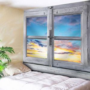 Microfiber Wall Hanging Outside The Window Tapestry