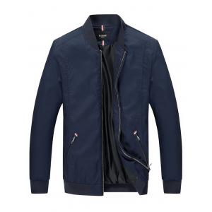 Zip Pocket Stand Collar Jacket
