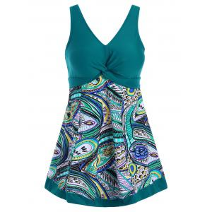 Plus Size Padded Printed Swimdress