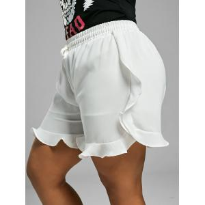 Elastic Waist Ruffle Mini Plus Size Shorts