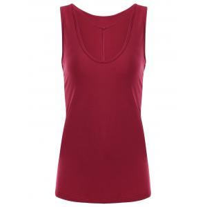 Y-strap Front Tank Top - Red - S