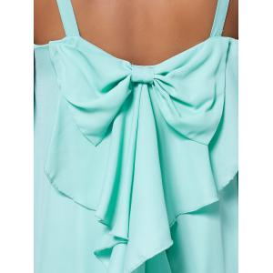 Bowknot Chiffon Trapeze Mini Dress -