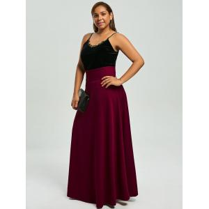High Waist Plus Size Maxi Skirt -