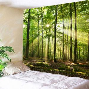 Green W Inch  L Inch Forest Sunlight Decorative Wall Art - Decorative wall art