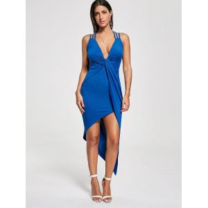 Robe asymétrique Twist Twist Criss Cross - Bleu XL