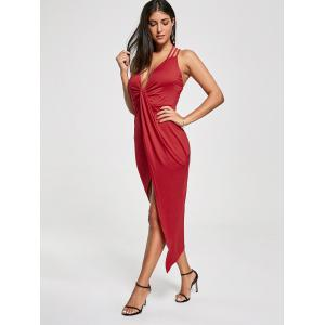 Robe asymétrique Twist Twist Criss Cross - Rouge S