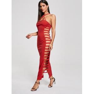 Backless Criss Cross Cut Out Maxi Club Hot Dress -