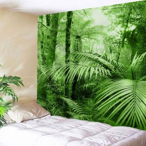 Tropical Plants Bedroom Wall Decor Tapestry - Green - W71 Inch * L91 Inch