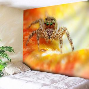 Spider Printed Tapestry Microfiber Wall Hanging