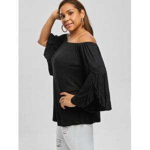 Plus Size Flare Sleeve Off The Shoulder Top -