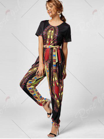 New Tribe Print Jumpsuit - XL BLACK Mobile