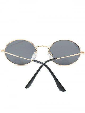 Hot Oval Metal Frame Anti UV Sunglasses - LUXURY GOLD COLOR  Mobile