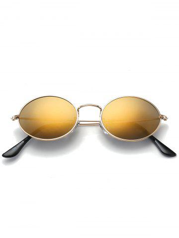 Buy Oval Metal Frame Anti UV Sunglasses - LUXURY GOLD COLOR  Mobile