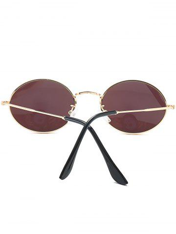 Buy Oval Metal Frame Anti UV Sunglasses - AZURE  Mobile
