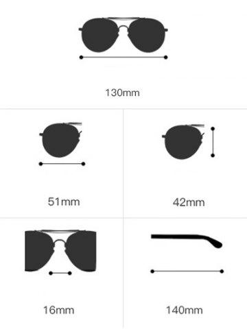 Fancy Oval Metal Frame Anti UV Sunglasses - BLACK  Mobile