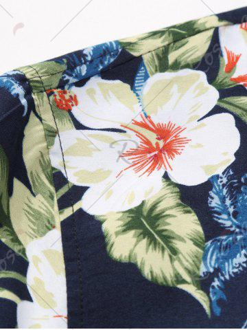 Latest Plus Size Long Sleeve 3D Flowers and Leaves Print Shirt - 7XL COLORMIX Mobile