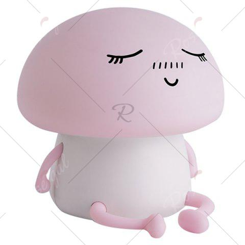 Online Cartoon Mushroom LED USB Rechargeable Night Light - PINK  Mobile