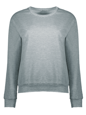 Outfits Active Round Neck Letter Print Sweatshirt - L GRAY Mobile