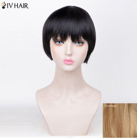 Outfits Siv Hair Straight Short Full Fringe Bob Human Hair Wig - BLONDE  Mobile