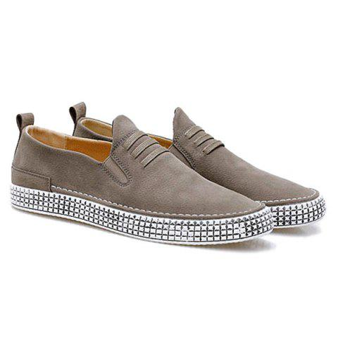 Latest Slip On Elastic Band Casual Shoes - 43 KHAKI Mobile