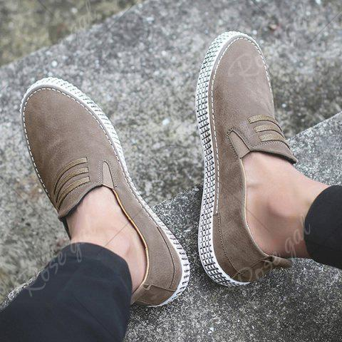 Outfits Slip On Elastic Band Casual Shoes - 43 KHAKI Mobile