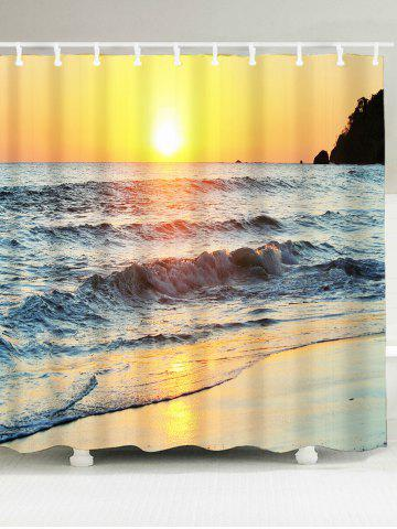Sunset Beach Scenic Waterproof Fabric Shower Curtain - Colormix - W59 Inch * L71 Inch