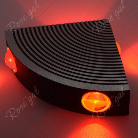 Cheap Aluminum LED Sector Wall Lamp for Bedroom - RED  Mobile