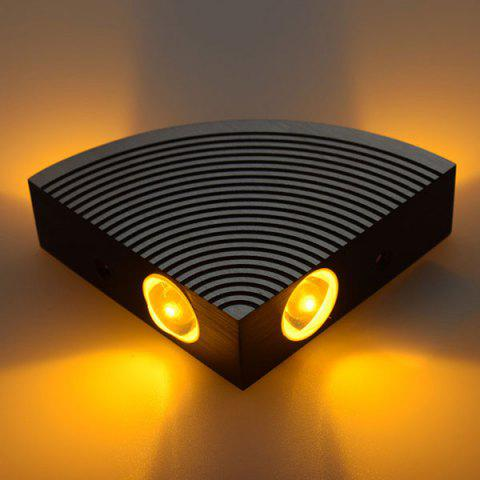Outfit Aluminum LED Sector Wall Lamp for Bedroom - YELLOW  Mobile