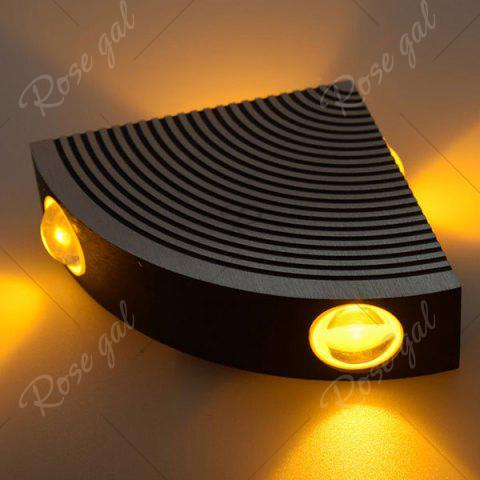 Chic Aluminum LED Sector Wall Lamp for Bedroom - YELLOW  Mobile