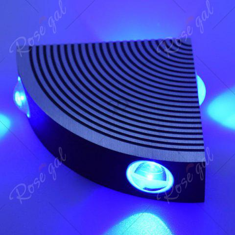 Buy Aluminum LED Sector Wall Lamp for Bedroom - BLUE  Mobile