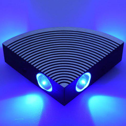 Latest Aluminum LED Sector Wall Lamp for Bedroom - BLUE  Mobile