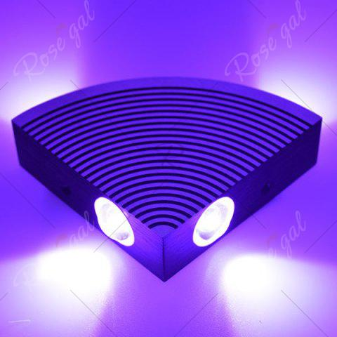 Online Aluminum LED Sector Wall Lamp for Bedroom - PURPLE  Mobile